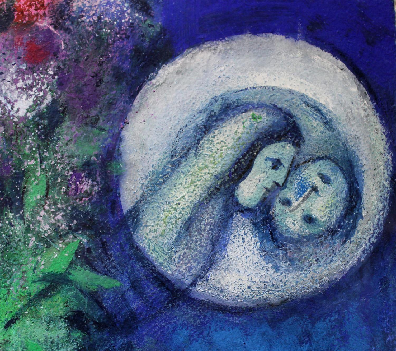 Chagall, Le cinque candele (particolare)